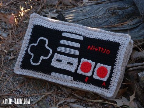 Classic Video Game Controller Pillow | Free Crochet Pattern at Ginger-Peachy.com