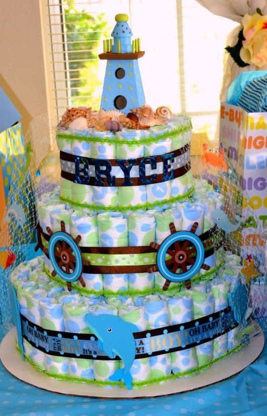 cakes baby shower diaper cakes baby shower diapers nautical baby baby
