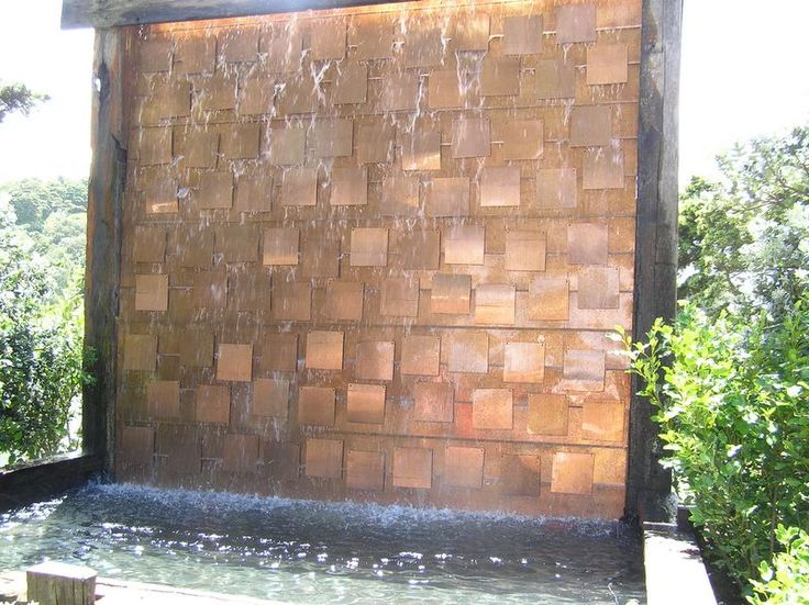 30 amazing outdoor water wall design ideas