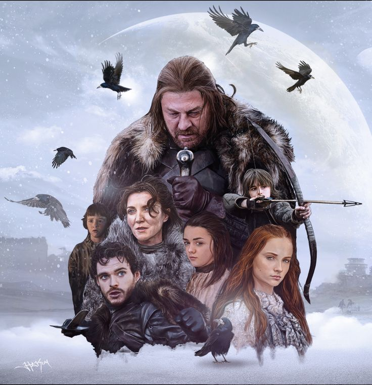 Game+of+Thrones:+House+Stark+Painting+by+Hax09.deviantart.com+on+@deviantART. STARKS OF WINTERFELL.