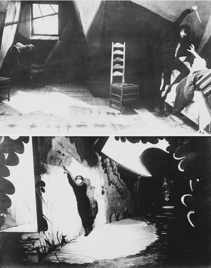 Retro Horror: Film still photos from 'Das Cabinet des Dr. Caligari' directed by Robert Wiene (1920)