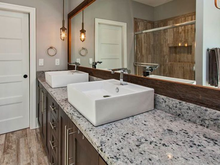 Cotton White Granite Countertop Bathroom Projects
