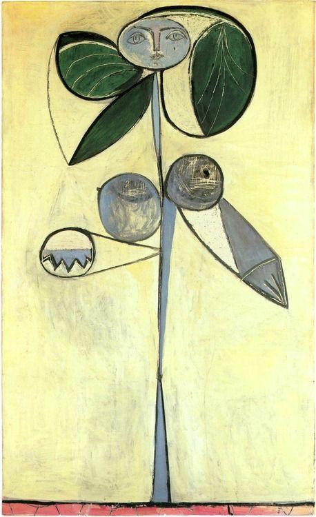 1946 'La femme Fleur' (Francoise Gilot), Pablo Picasso (Spain 1881~1973 France)