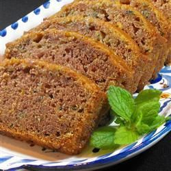 Lemon Courgette Cake - 7 oz grated courgette drained on paper, 5 oz caster sugar, 1 egg, 4 oz veg oil, zest & juice 1 lemon - mix tog. Add 7 oz sieved plain flour, half tsp each Bicarb of Soda, Baking Powder, cinnamon, + hand-full raisins, and/or seeds/nuts. Oven mark 3 / 160c 45 mins until skewer comes out clean. Top with lemon butter icing or cream cheese frosting. Easy + can freeze.