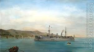 Constantinos Volanakis:S.M.S. Kaiserin Augusta, Phaleron Bay 1897