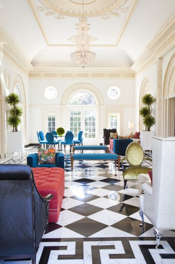 Black and white checkered floors for the home pinterest for Black and white check floor
