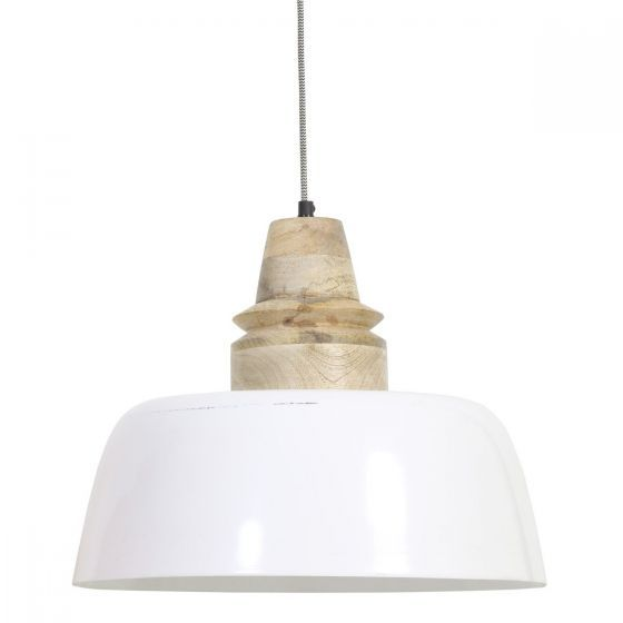 HANGLAMP MARGO WIT- HOUT NATUREL 33 x Ø 40 3062273 Light & Living www.wantsandneeds.nl