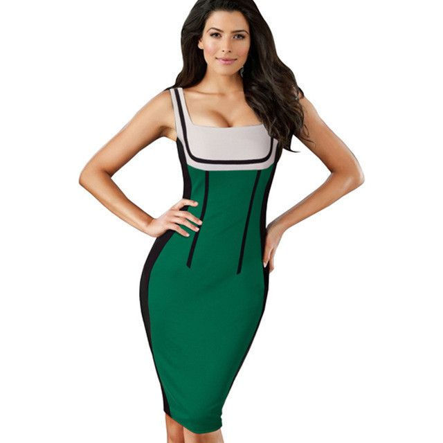 Patchwork spaghetti Strap Fashion dresses