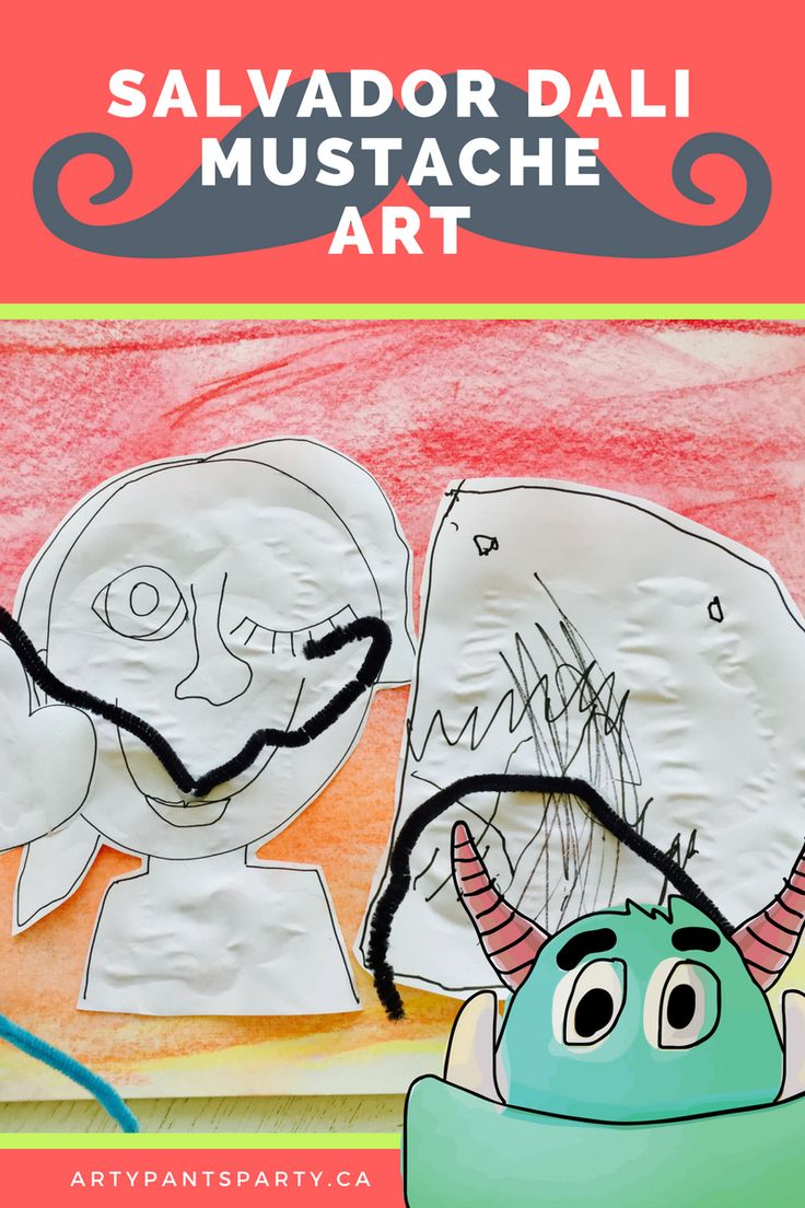 Salvador Dali was famous for surrealism and his moustache.  Make your own! Great for all ages including preschoolers.