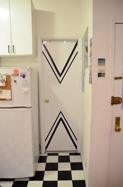 New York Apartment: Chevron Doors by Stacie Stacie Stacie, via Flickr