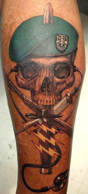 vietnam tatoos | And then of course, there are the (ex-) Green Berets, the Legionnaires ...