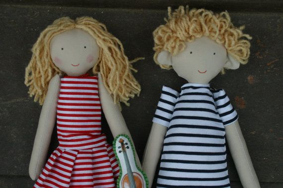 Custom personalized rag dolls  dolls made from by apacukababa
