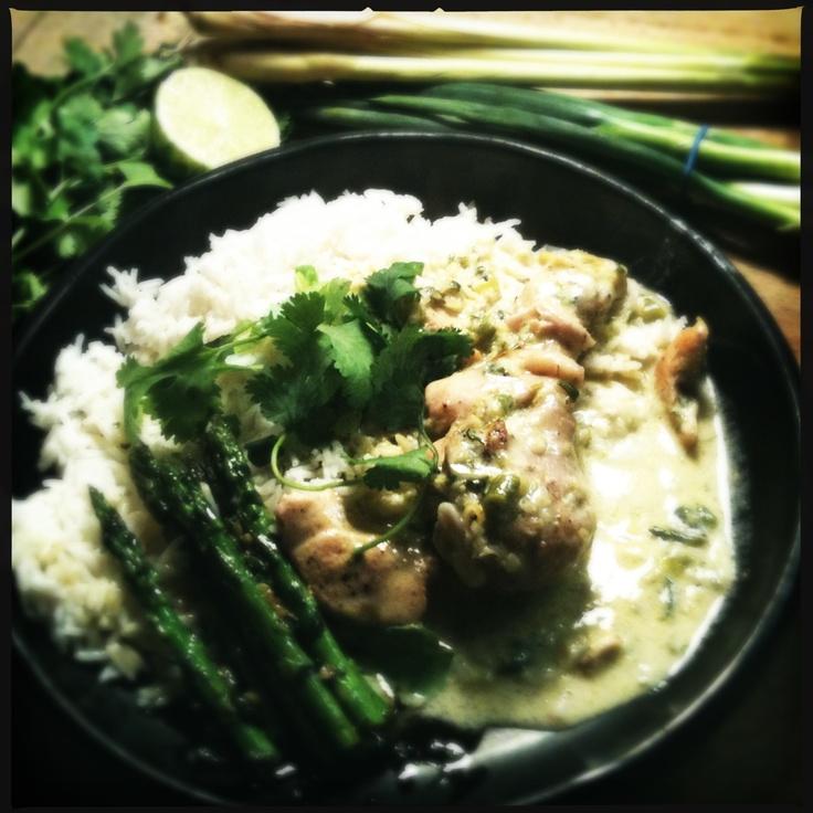 Thaise kip met rijst en asperges    www.niksspeciaals.be