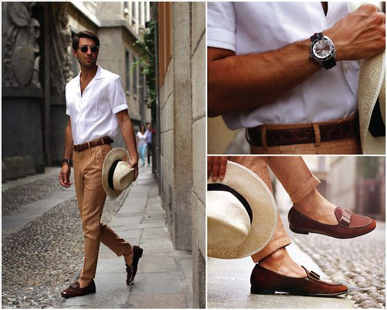 Tangerine Shoes, Reiss Shirt, Natural Gentleman Pants