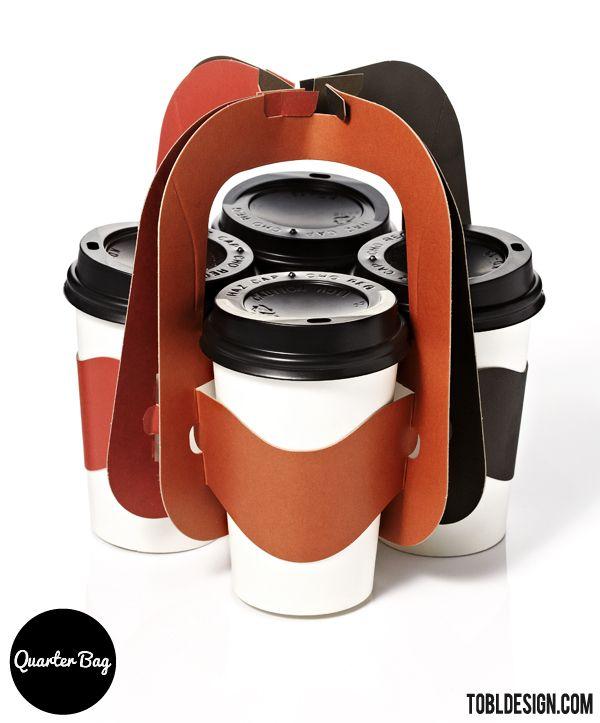 Designed by TOBL DESIGN , South Korea .  President & Designer : Wonkook Lee   Quarter bag is a cup carrier for beverage take-out.  It was d...