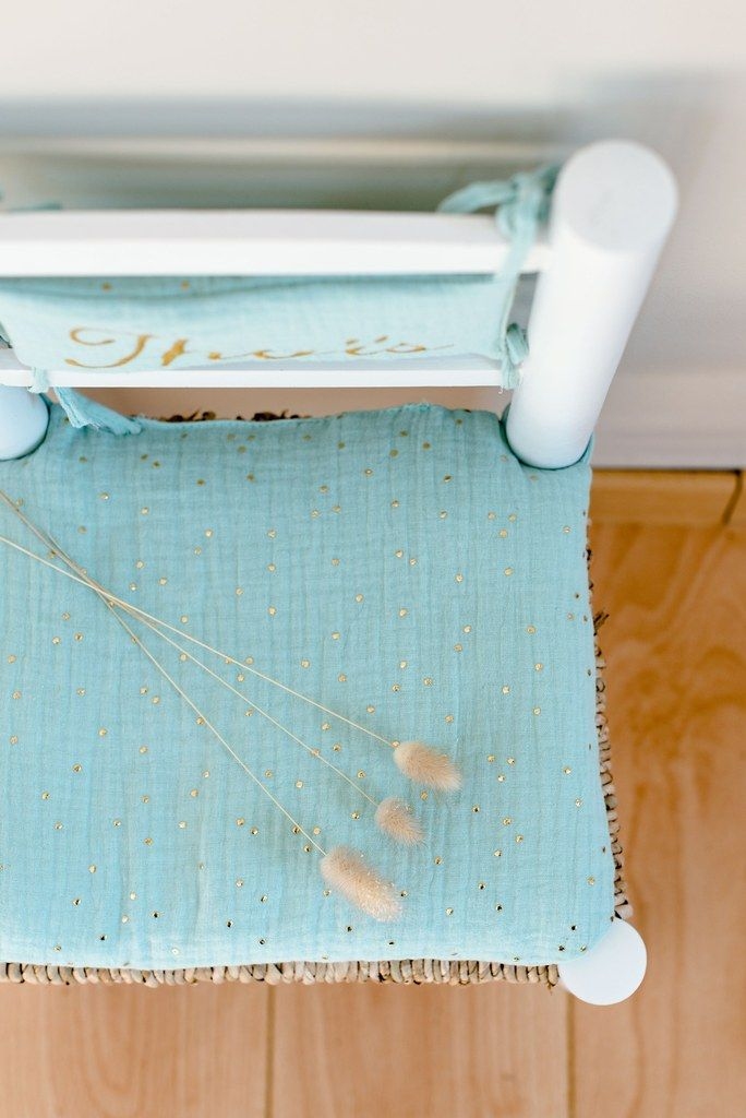 chaise bois paille blanche coussin