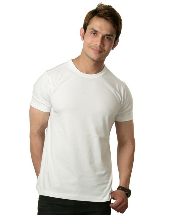 Sapphire White Half Cotton Round T-Shirt SELLING PRICE Rs 499 Only Visit Us:-http://goo.gl/zfJWLd