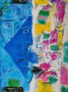 Le visage bleu - 1967- Marc Chagall
