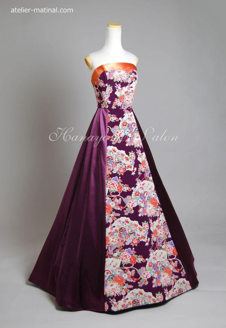 母のドレスをリメイク(デザイン変更)/ウエディング小物オーダー/オーダーメイド和風ちりめんドレス
