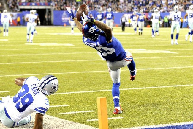 Odell Beckham Jr one handed catch #Odell Beckham Jr #New York Giants #NFL #one hand catch http://thehardfloor.com/blog/most-underrated-nfl-players-right-now/