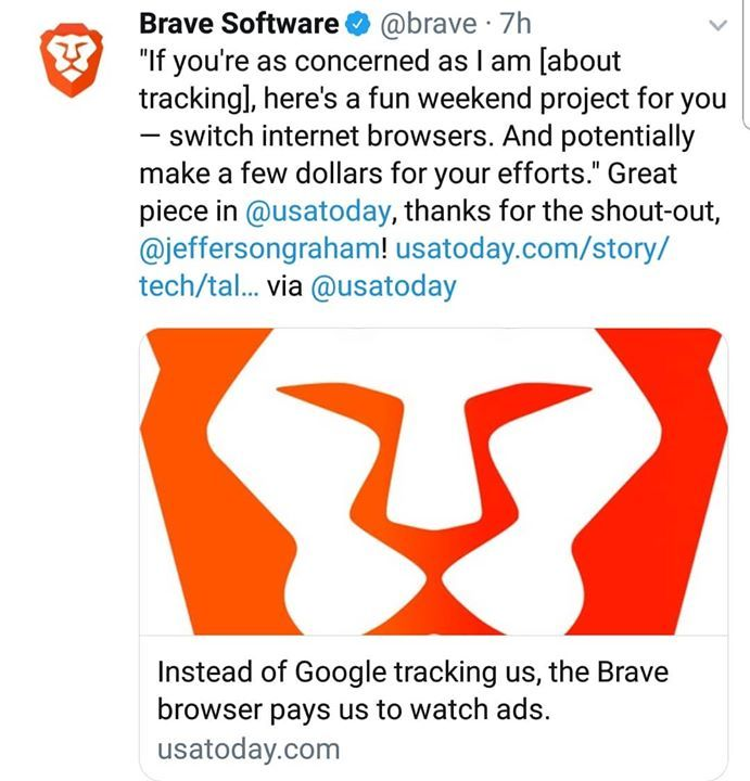 The New Way To Browse The Internet Brave Browser Is More Private Secure And Pays You To View Ads Bat Tokens Are Powered By Ethereum Ethereum Eth Crypto