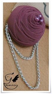 Only Purple Rossete Brooch