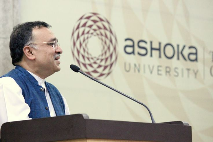Dr. Pramath Raj Sinha, Founder and Trustee, Ashoka University, delivers the vote of thanks at JNU, New Delhi