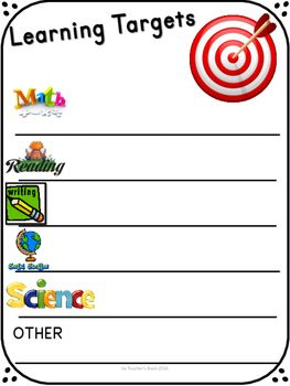 34 best images about Ed - Learning targets and goals on Pinterest