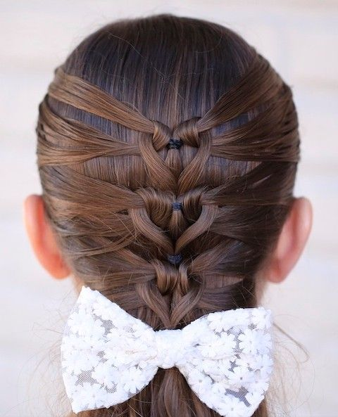 Hairstyles In Ark : Trenza de coraz?n, Trenzas and Peinados ni?a bonitos on Pinterest