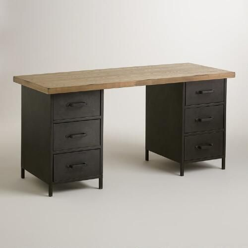 One of my favorite discoveries at WorldMarket.com: Natural Wood and Metal Drawer Colton Mix