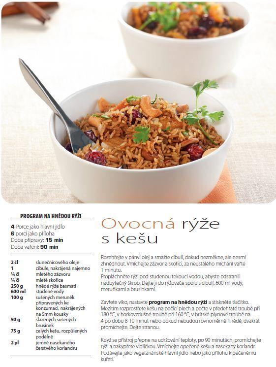 Ovocná rýže s kešu recept, Multifunkční hrnec 8v1 RK302