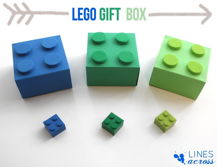 """""""Lines Across"""": Lego Gift Boxes (With Free Templates)"""