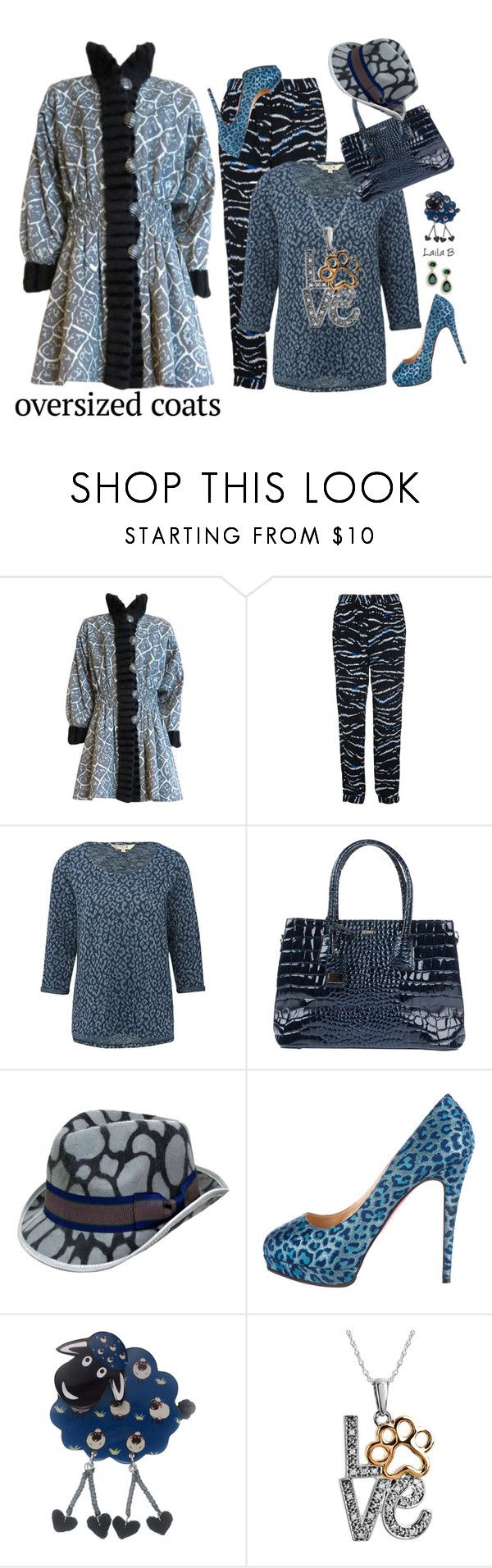 """""""Oversized Coat"""" by laila-bergan ❤ liked on Polyvore featuring Yves Saint Laurent, French Connection, M&Co, TSD12, Christian Louboutin, One Button, ASPCA, outfit and Contesthttp"""