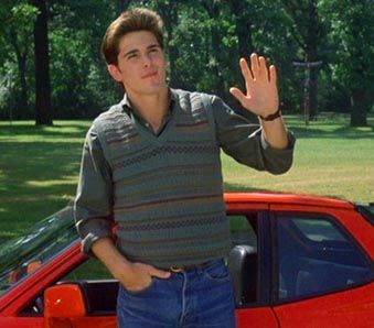 16 Candles...aww I loved Jake Ryan waiting outside the church with the Porsche.... (woulda loved him w/o the car...)