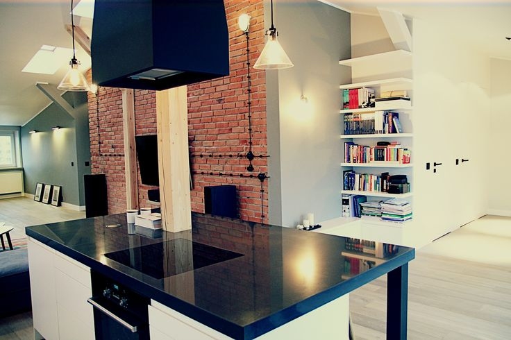 Lofts kitchen : cozy industrial and minimalizlizm. Warsaw, Poland. www.artandarchitecture.pl