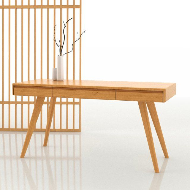 Fancy Currant Caramelized Bamboo Writing Desk For The