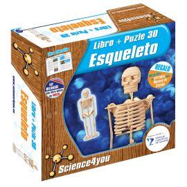 A PARTIR DE 6 AÑOS. Puzzle en 3D con 47 piezas. Contiene libro donde descubrirás de qué están hechos los huesos,cuántos huesos componen el esqueleto humano,cómo podemos tener unos huesos fuertes para evitar las lesiones y muchas cosas más.