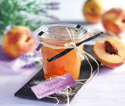Provenzalische Pfirsich-Lavendel-Konfitüre