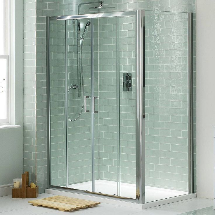 Enjoy the luxury of a contemporary and spacious shower enclosure with the V6 Sliding Shower Enclosure, which features a high quality anodised frame for a stylish finish, and sliding double doors for a luxurious and elegant feel.