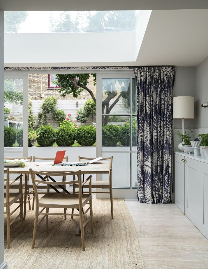 This South London Townhouse Is Painted Head To Toe In Striking Blues. This Elegant  Dining Room ...