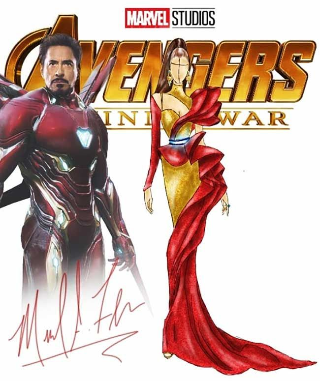 Michael Anthony Creates Avengers Inspired Gowns And They Re Just Gorgeous Art Illustration Fashionillustration Gowns Red Avengers Max Marvel Costu