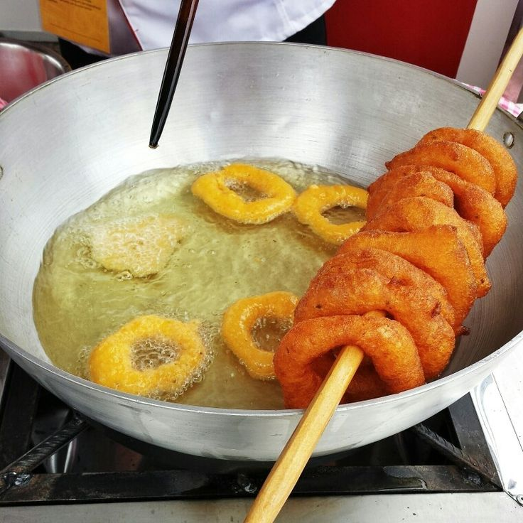 Picarones!!! Peruvian doughnuts made with pumpkin and sweet potato. Love these. Think Peruvian beignets... light and fluffy and not too sweet.
