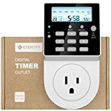 Etekcity Light Timer Outlet Electrical Digital Plug in Heavy Duty with Back Light 7 Day 20 Settings Programmable 5610 Joules Surge Protection Multi-Protect for Appliances 15A/1800W