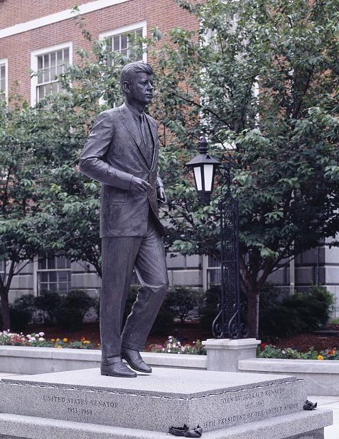 John F. Kennedy statue outside the Capitol, Boston, Massachusetts