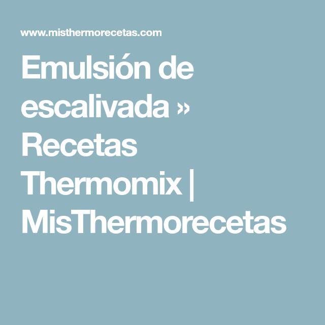 Emulsión de escalivada » Recetas Thermomix   MisThermorecetas