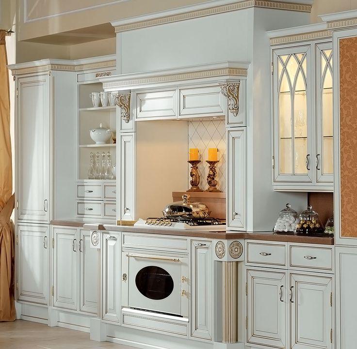 «Британика белая» - классическая кухня на заказ от компании Атлас-Люкс