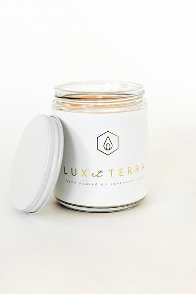 Lux et Terra Hand Poured Coconut Candle, A Canadian Product on Chill Bay General www.chillbay.ca