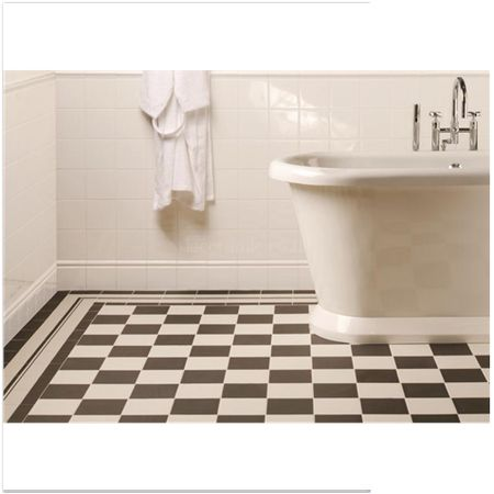 Original Style tiles - Brilliant White Skirting Tile decorative wall  tile 152 x 152 mm - A9903 Artworks