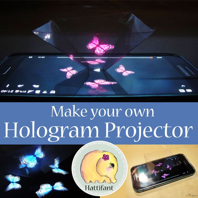 Make your own Hologram Projector with Hattifant. In less than 15 minutes and you can watch hologram videos from your phone!
