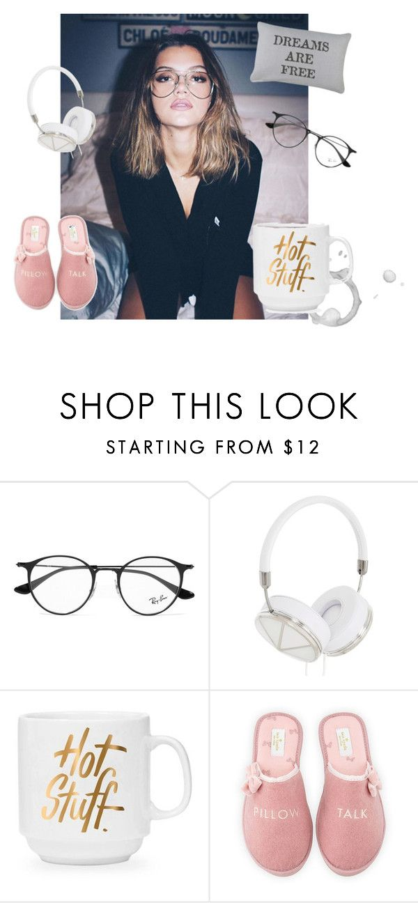 """""""Let's Stay in Bed"""" by raven-and-crow on Polyvore featuring Ray-Ban, Frends, Kate Spade, Park B. Smith and cozy"""
